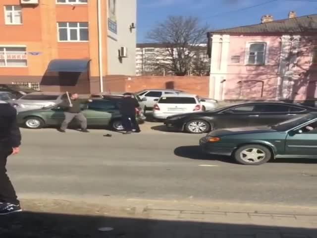 Уличные бои на палках в Ставрополе