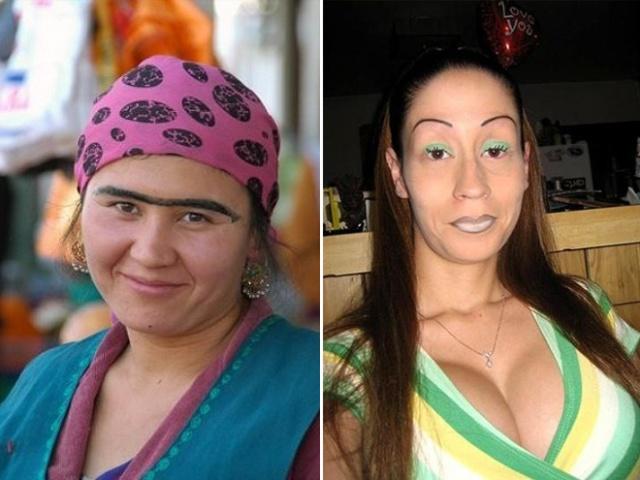 Девушки со странными бровями (21 фото)
