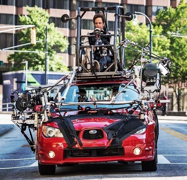 """Как снимали автомобильные сцены из фильма """"Малыш на драйве"""" (3 фото)"""