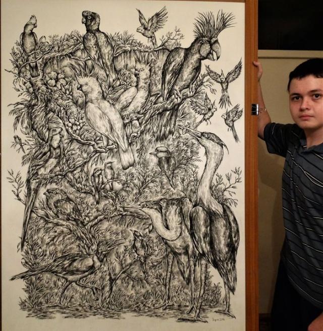 Прогресс юного художника (32 фото)
