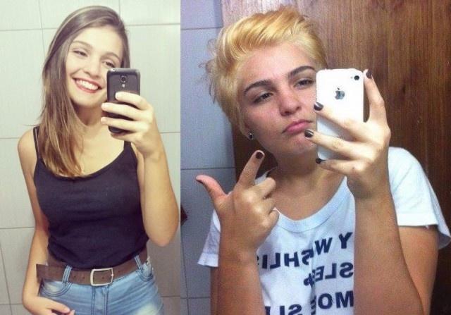 """Фото девушек, которые стали феминистками: """"до и после"""" (32 фото)"""