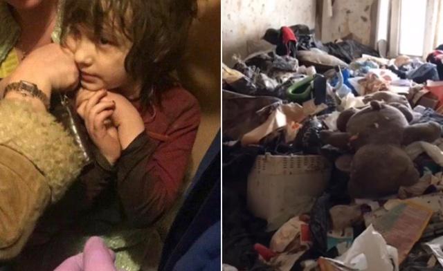 В Москве была найдена девочка-маугли. Шокирующая история (2 фото + 3 видео)
