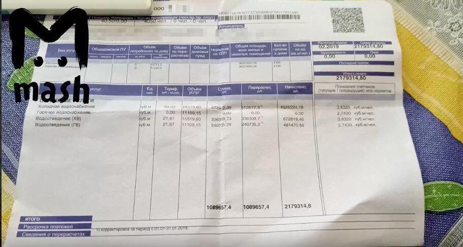Управляющая компания в Перми разослала странные квитанции жильцам (2 фото)