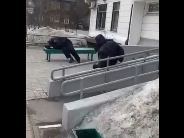 Пьяные полицейские уснули прямо на улице в Подмосковье
