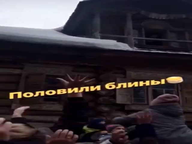 """""""Раздача"""" блинов в Новгородской области"""