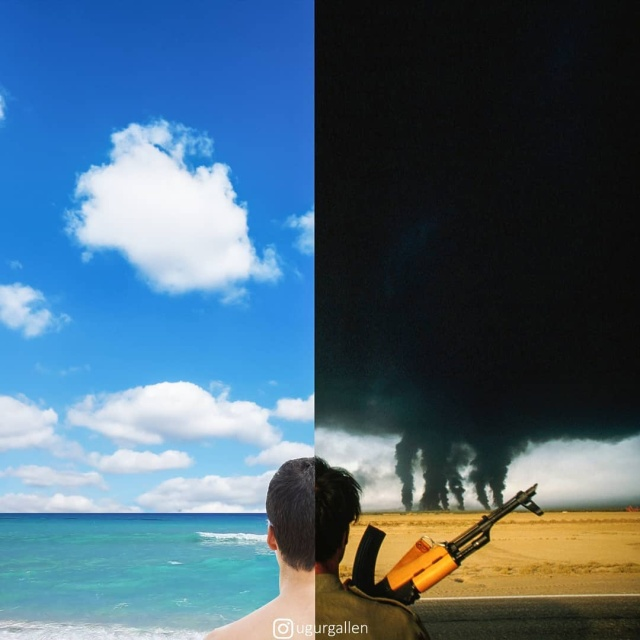 "Серия работ ""Лицо войны"" от Угура Галлена (32 фото)"