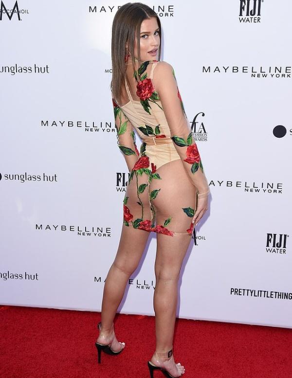 Модель Лекси Вуд появилась на красной дорожке в откровенном наряде (5 фото)