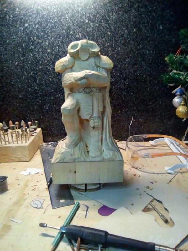 Создание фигурки из дерева в стиле фентези (19 фото)