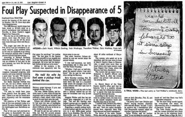 Странная гибель пятерых мужчин из Юба-Сити, которую называют аналогом перевала Дятлова (11 фото)