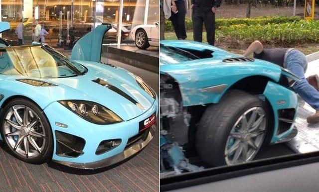 В Мексике разбили уникальный суперкар Koenigsegg CCXR бирюзового цвета (8 фото)