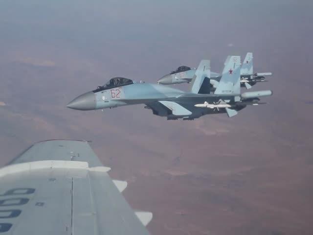 Полет министра обороны РФ Сергея Шойгу над территорией Сирии
