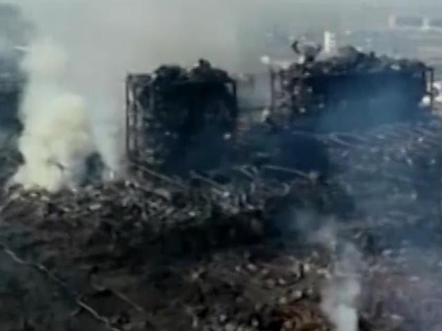 Последствия взрыва на китайском химическом заводе