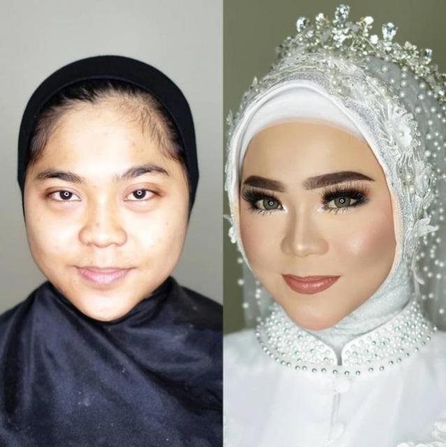 """Свадебный макияж азиатских невест: """"До и после"""" (25 фото)"""