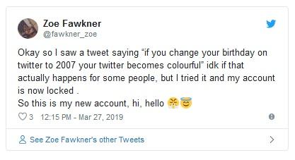 После флешмоба в Twitter со сменой даты рождения, множество аккаунтов были заблокированы (9 скриншотов)