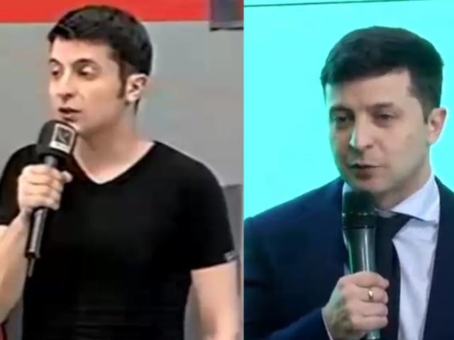 Владимир Зеленский с разницей в 17 лет