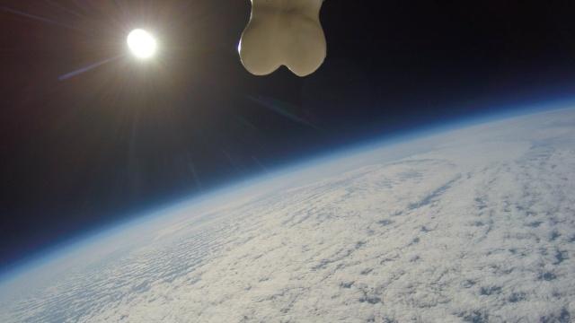 Чего только люди не отправляют в космос (5 фото)