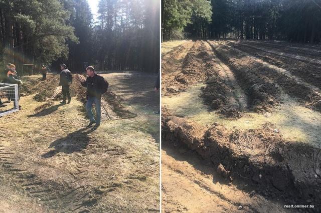 Продолжение истории с футбольным полем в белорусской деревне, которое уничтожили сотрудники лесхоза (4 фото)