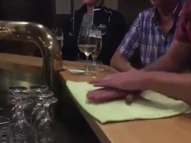 Забавный трюк с полотенцем