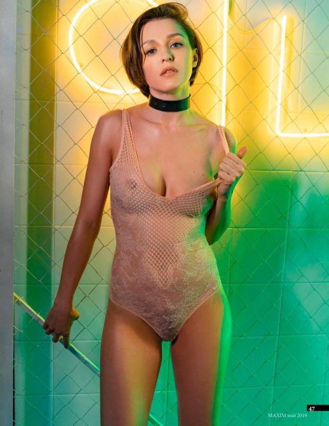 Актриса Евгения Крегжде в откровенной фотосессии для журнала Maxim (6 фото)