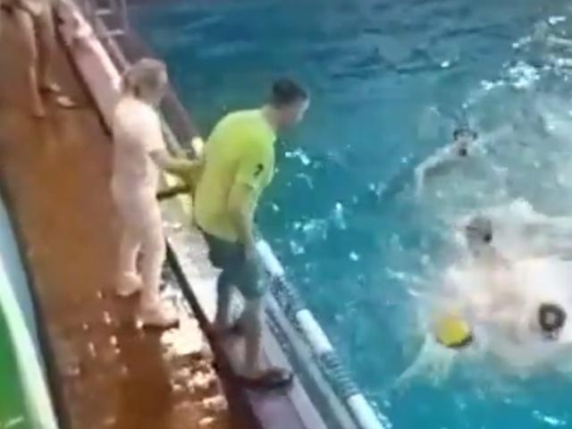 Тренер устроил драку во время игры по водному поло