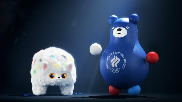 Кот-ушанка и медведь-неваляшка - новые талисманы олимпийской команды России (4 фото)