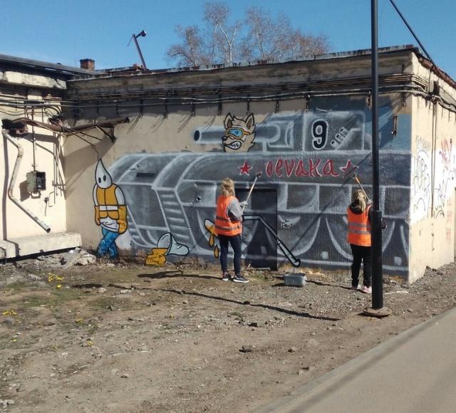 """Рисунок """"Воевака"""" в Ростокино (3 фото)"""