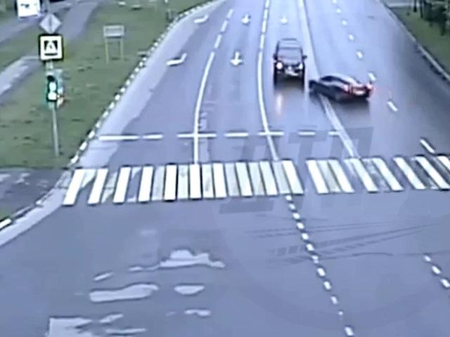 Авария с участием Ferrari в Москве