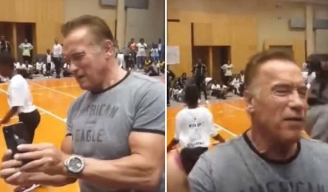 Арнольда Шварценеггера ударили ногой в спину в ЮАР (видео + фото)