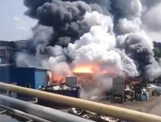 """Взрыв и пожар на заводе """"Рубин"""" в Подмосковье"""