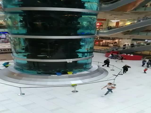 В московском ТЦ «Авиапарк» потек аквариум