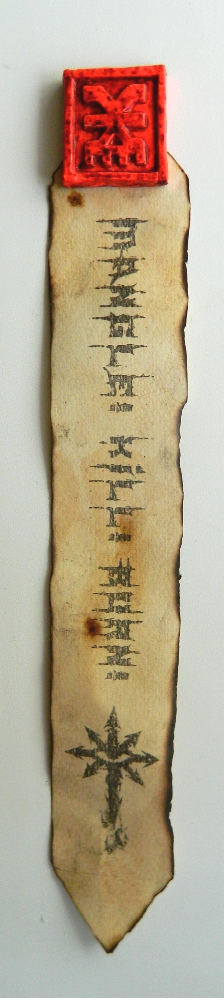 Печать Кхорна в качестве магнита для демонического холодильника.
