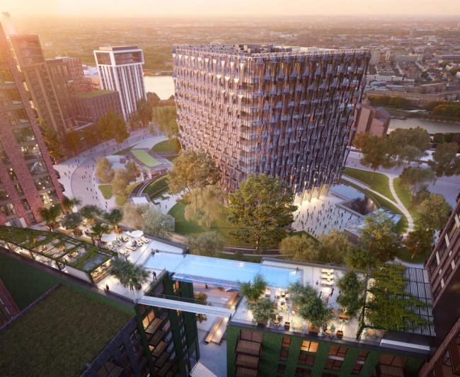 В Лондоне построят бассейн на крыше здания