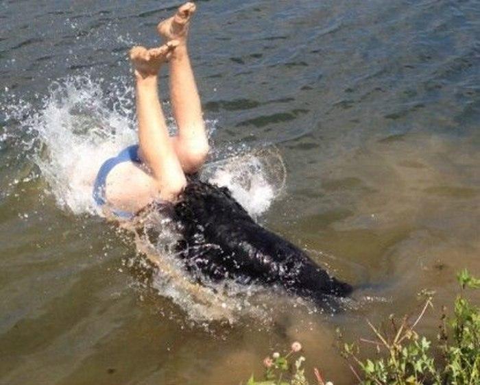 Самый неудачный прыжок в воду