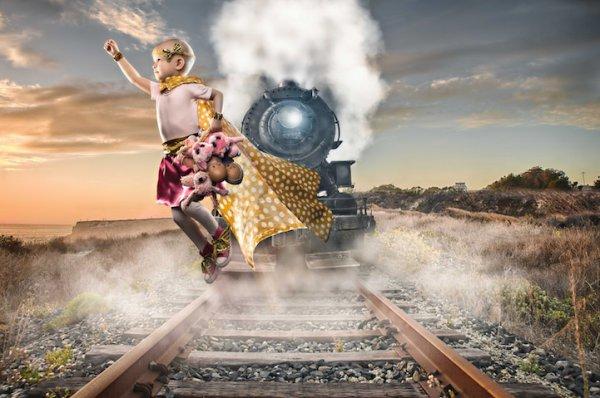 Фотограф воплощает в реальность фантазии больных раком детей и взрослых
