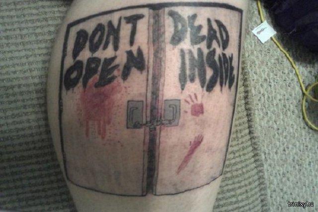 Татуировки поклонников сериала «Ходячие мертвецы»