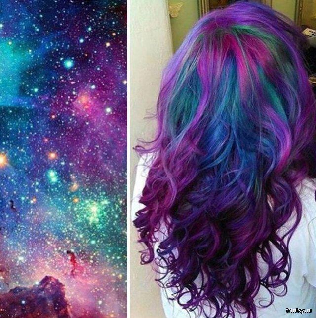 Прически Galaxy Hair - новый тренд этого года