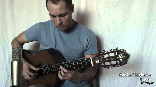 Нежность (опустела без тебя земля) на гитаре.