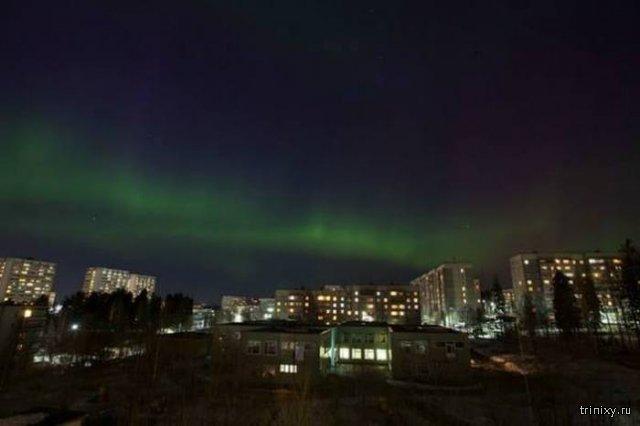 Жители Екатеринбурга стали свидетелями северного сияния