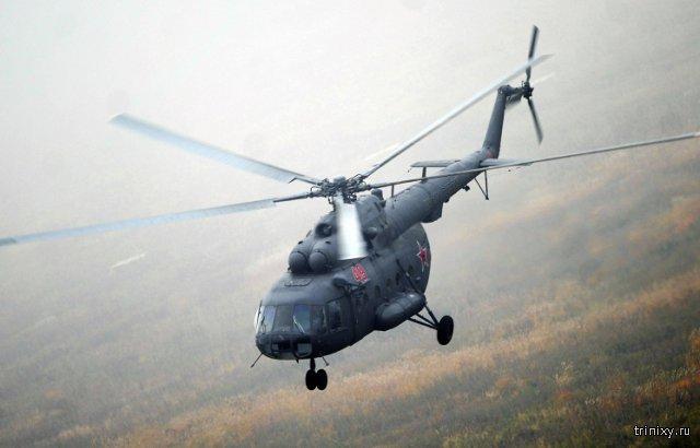 В Красноярском крае потерпел крушение пассажирский вертолет Ми-8