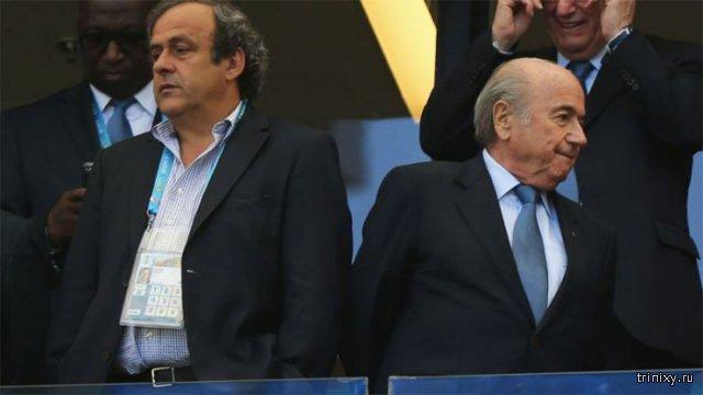 Блаттера и Платини на 8 лет отлучили от футбольной деятельности