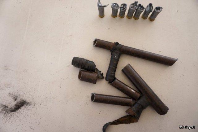 Как уничтожают изъятое у преступников оружие в Гватемале