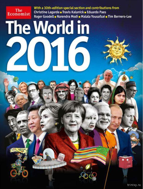 Петр Порошенко опубликовал отфотошопленную обложку журнала The Economist с собой вместо Путина