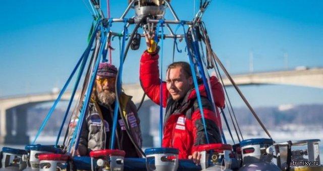 Федор Конюхов и Иван Меняйло установили новый рекорд России по воздухоплаванию