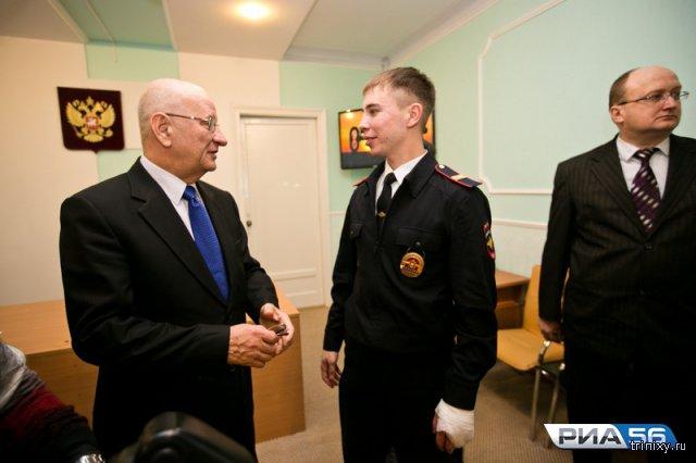 За проявленный героизм полицейскому Данилу Максудову вручили ключи от квартиры