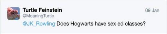 Джоан Роулинг рассказала об уроках сексуального воспитания в Хогвартсе