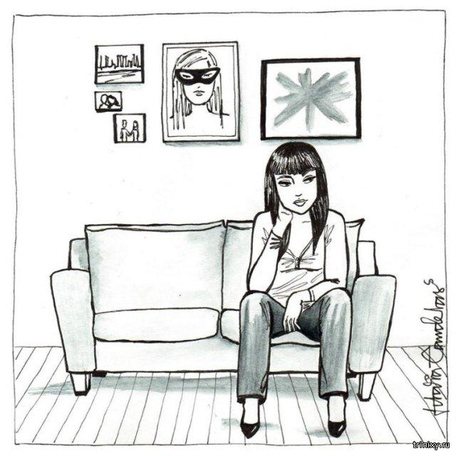 Художник показал в чем заключаются радости жизни в одиночестве