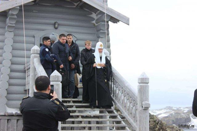 Глава РПЦ патриарх Кирилл посетил Антарктиду