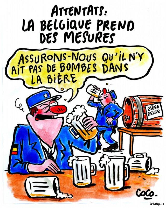 Charlie Hebdo опубликовал еще одну карикатуру на брюссельские теракты