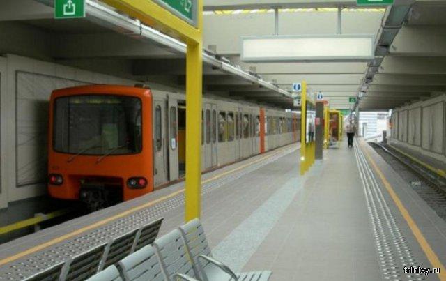 В брюссельском метро на информационном табло загорелась надпись «Бум»