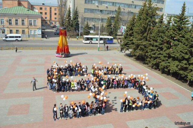 В Пензе прошел флешмоб в честь юбилея полета Гагарина